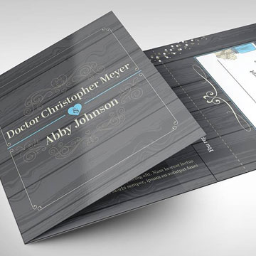 invitation wedding brochure design graphics trifold