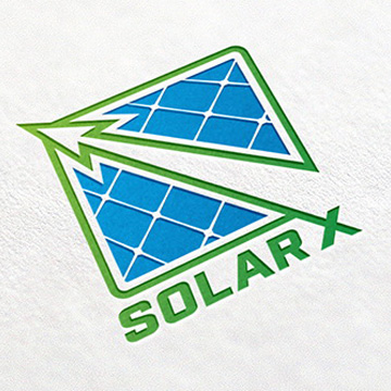 logo brand design solar panels energy product