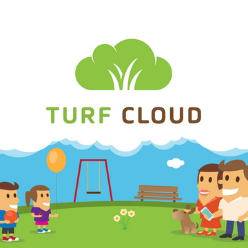 web design logo illustration branding website responsive turf cloud business corporate flat style