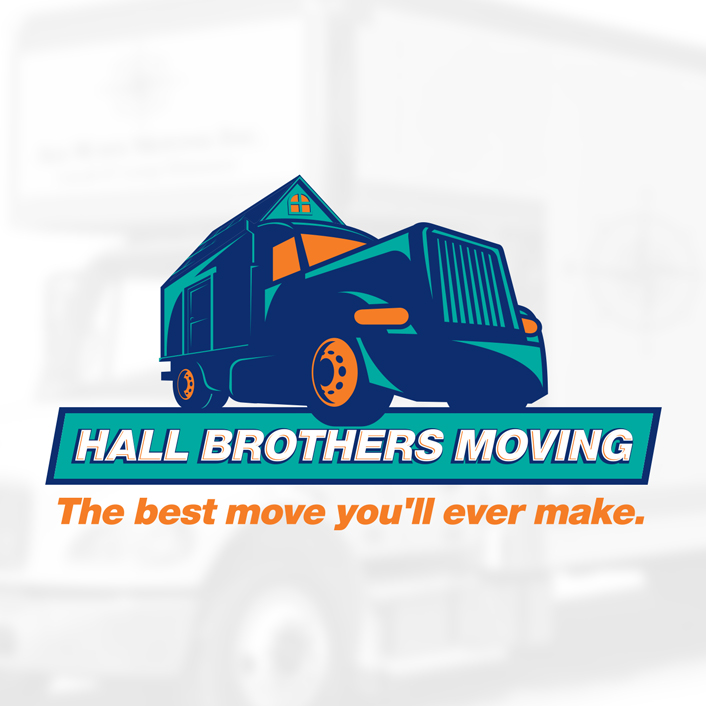 logo design moving company truck house