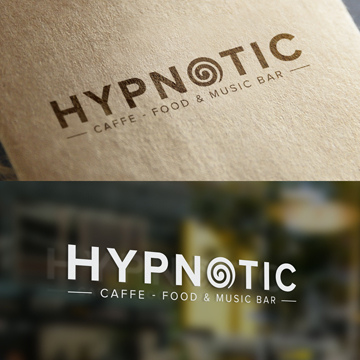 logo design hypnotic caffe bar snack night bar restaurant novi sad