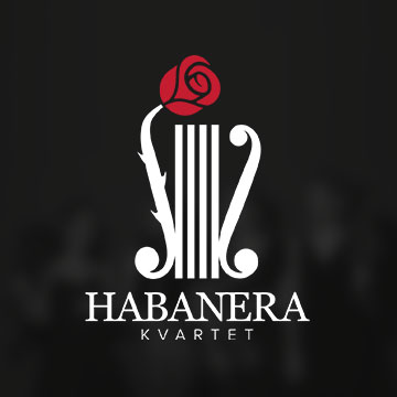 logo design habanera quartet music classic violin cello viola girls ladies orchestra