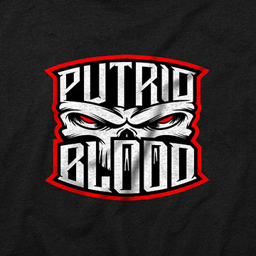 logo design putrid blood metal heavy hardcore music guitar skull anger album cover