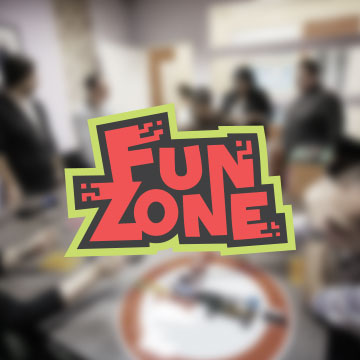 logo design fun zone room escape team building kids party
