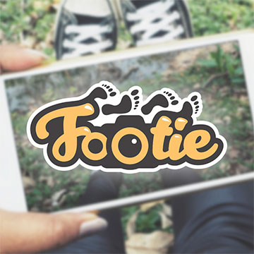 footie foot feet photobooth photocontest design logo design illustration drawing sketch illustrator photoshop vector
